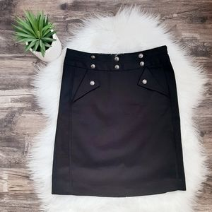 Club Monaco a-line skirt with button detail